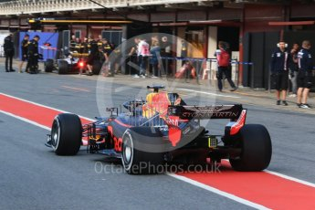 World © Octane Photographic Ltd. Formula 1 – In season test 1, day 2. Aston Martin Red Bull Racing TAG Heuer RB14 – Jake Dennis. Circuit de Barcelona-Catalunya, Spain. Wednesday 16th May 2018.