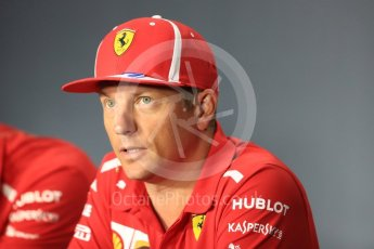 World © Octane Photographic Ltd. Formula 1 – Italian GP - FIA Drivers' Press Conference. Scuderia Ferrari - Kimi Raikkonen. Autodromo Nazionale di Monza, Monza, Italy. Thursday 30th August 2018.