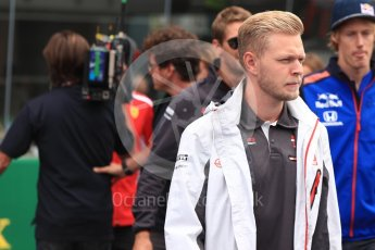 World © Octane Photographic Ltd. Formula 1 – Italian GP - Drivers Parade. Haas F1 Team VF-18 – Kevin Magnussen. Autodromo Nazionale di Monza, Monza, Italy. Sunday 2nd September 2018.