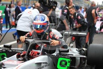 World © Octane Photographic Ltd. Formula 1 – Italian GP - Grid. Haas F1 Team VF-18 – Romain Grosjean. Autodromo Nazionale di Monza, Monza, Italy. Sunday 2nd September 2018.