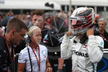 World © Octane Photographic Ltd. Formula 1 – Italian GP - Grid. Mercedes AMG Petronas Motorsport AMG F1 W09 EQ Power+ - Lewis Hamilton. Autodromo Nazionale di Monza, Monza, Italy. Sunday 2nd September 2018.