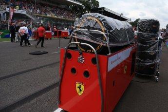 World © Octane Photographic Ltd. Formula 1 – Italian GP - Grid. Scuderia Ferrari SF71-H – Sebastian Vettel. Autodromo Nazionale di Monza, Monza, Italy. Sunday 2nd September 2018.