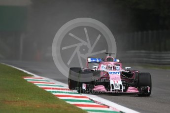 World © Octane Photographic Ltd. Formula 1 – Italian GP - Practice 1. Racing Point Force India VJM11 - Sergio Perez. Autodromo Nazionale di Monza, Monza, Italy. Friday 31st August 2018.