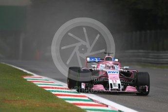 World © Octane Photographic Ltd. Formula 1 – Italian GP - Practice 1. Racing Point Force India VJM11 - Sergio Perez. Autodromo Nazionale di Monza, Monza, Italy. Friday 31st August 2018.