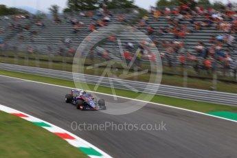 World © Octane Photographic Ltd. Formula 1 – Italian GP - Practice 2. Scuderia Toro Rosso STR13 – Pierre Gasly. Autodromo Nazionale di Monza, Monza, Italy. Friday 31st August 2018.