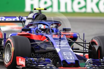 World © Octane Photographic Ltd. Formula 1 – Italian GP - Qualifying. Scuderia Toro Rosso STR13 – Pierre Gasly. Autodromo Nazionale di Monza, Monza, Italy. Saturday 1st September 2018.