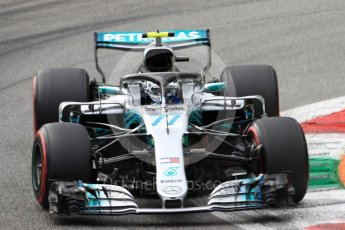 World © Octane Photographic Ltd. Formula 1 – Italian GP - Qualifying. Mercedes AMG Petronas Motorsport AMG F1 W09 EQ Power+ - Valtteri Bottas. Autodromo Nazionale di Monza, Monza, Italy. Saturday 1st September 2018.
