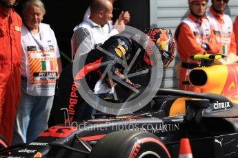 World © Octane Photographic Ltd. Formula 1 – Italian GP - Qualifying. Aston Martin Red Bull Racing TAG Heuer RB14 – Max Verstappen. Autodromo Nazionale di Monza, Monza, Italy. Saturday 1st September 2018.