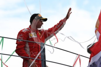 World © Octane Photographic Ltd. Formula 1 – Italian GP - Race - Podium. Scuderia Ferrari SF71-H – Kimi Raikkonen. Autodromo Nazionale di Monza, Monza, Italy. Sunday 2nd September 2018.