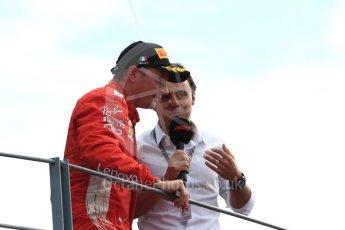 World © Octane Photographic Ltd. Formula 1 – Italian GP - Race - Podium. Scuderia Ferrari SF71-H – Kimi Raikkonen and Felipe Massa. Autodromo Nazionale di Monza, Monza, Italy. Sunday 2nd September 2018.