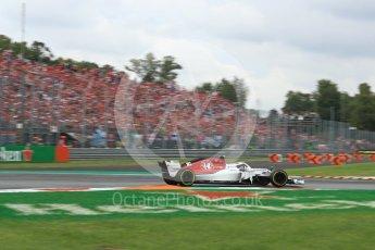World © Octane Photographic Ltd. Formula 1 – Italian GP - Race. Alfa Romeo Sauber F1 Team C37 – Charles Leclerc. Autodromo Nazionale di Monza, Monza, Italy. Sunday 2nd September 2018.
