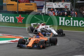 World © Octane Photographic Ltd. Formula 1 – Italian GP - Race. McLaren MCL33 – Fernando Alonso. Autodromo Nazionale di Monza, Monza, Italy. Sunday 2nd September 2018.