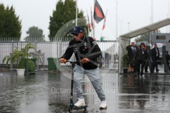 World © Octane Photographic Ltd. Formula 1 – Italian GP - Paddock. Mercedes AMG Petronas Motorsport AMG F1 W09 EQ Power+ - Lewis Hamilton. Autodromo Nazionale di Monza, Monza, Italy. Friday 31st August 2018.