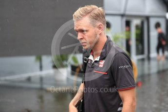 World © Octane Photographic Ltd. Formula 1 – Italian GP - Paddock. Haas F1 Team VF-18 – Kevin Magnussen. Autodromo Nazionale di Monza, Monza, Italy. Friday 31st August 2018.