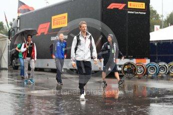 World © Octane Photographic Ltd. Formula 1 – Italian GP - Paddock. Haas F1 Team VF-18 – Romain Grosjean. Autodromo Nazionale di Monza, Monza, Italy. Friday 31st August 2018.