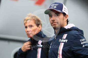 World © Octane Photographic Ltd. Formula 1 – Italian GP - Paddock. Racing Point Force India VJM11 - Sergio Perez. Autodromo Nazionale di Monza, Monza, Italy. Friday 31st August 2018.