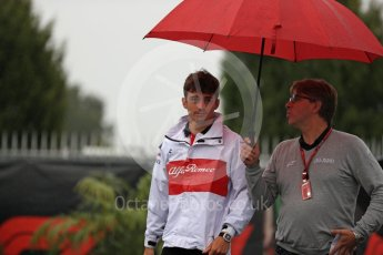 World © Octane Photographic Ltd. Formula 1 – Italian GP - Paddock. Alfa Romeo Sauber F1 Team C37 – Charles Leclerc. Autodromo Nazionale di Monza, Monza, Italy. Saturday 1st September 2018.
