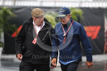 World © Octane Photographic Ltd. Formula 1 – Italian GP - Paddock. Bob Constanduros and Jean Alesi. Autodromo Nazionale di Monza, Monza, Italy. Saturday 1st September 2018.
