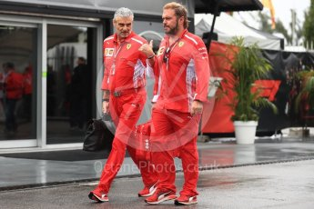 World © Octane Photographic Ltd. Formula 1 - Italian GP - Paddock. Maurizio Arrivabene – Managing Director and Team Principal of Scuderia Ferrari and Gino Rosato – Ferrari Corporate Affairs. Autodromo Nazionale di Monza, Monza, Italy. Saturday 1st September 2018.