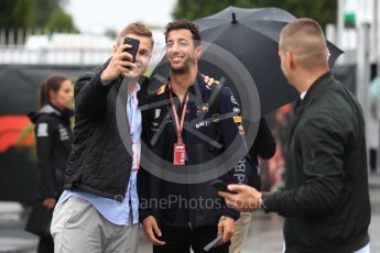 World © Octane Photographic Ltd. Formula 1 – Italian GP - Paddock. Aston Martin Red Bull Racing TAG Heuer RB14 – Daniel Ricciardo. Autodromo Nazionale di Monza, Monza, Italy. Saturday 1st September 2018.