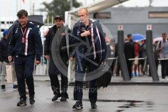 World © Octane Photographic Ltd. Formula 1 - Italian GP - Paddock. Andy Green - Technical Director at Racing Point  Force India. Autodromo Nazionale di Monza, Monza, Italy. Saturday 1st September 2018.