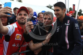 World © Octane Photographic Ltd. Formula 1 – Italian GP - Paddock. Racing Point Force India VJM11 - Esteban Ocon. Autodromo Nazionale di Monza, Monza, Italy. Saturday 1st September 2018.