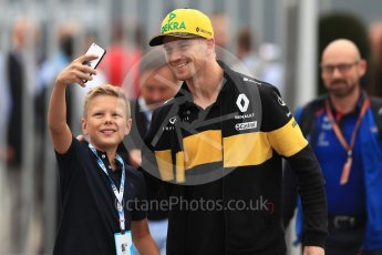 World © Octane Photographic Ltd. Formula 1 – Italian GP - Paddock. Renault Sport F1 Team RS18 – Nico Hulkenberg. Autodromo Nazionale di Monza, Monza, Italy. Sunday 2nd September 2018.