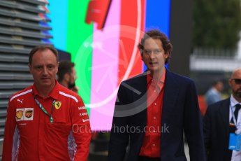 World © Octane Photographic Ltd. Formula 1 - Italian GP - Paddock. John Elkann – CEO of Exor. Autodromo Nazionale di Monza, Monza, Italy. Sunday 2nd September 2018.