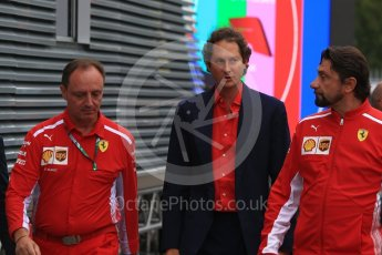 World © Octane Photographic Ltd. Formula 1 - Italian GP - Paddock. John Elkann – CEO of Exor. Autodromo Nazionale di Monza, Monza, Italy. Sunday 2nd September 2018.