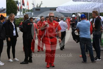 World © Octane Photographic Ltd. Formula 1 - Italian GP - Paddock. Ferrari crew arriving. Autodromo Nazionale di Monza, Monza, Italy. Sunday 2nd September 2018.