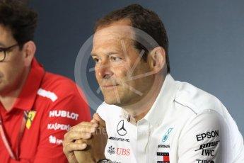 World © Octane Photographic Ltd. Formula 1 - Italian GP – Friday FIA Team Press Conference. Aldo Costa - Engineering Director of Mercedes - AMG Petronas Motorsport. Autodromo Nazionale di Monza, Monza, Italy. Friday 31st August 2018.