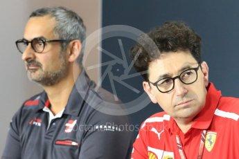 World © Octane Photographic Ltd. Formula 1 - Italian GP - Friday FIA Team Press Conference. Mattia Binotto – Chief Technical Officer - Scuderia Ferrari. Autodromo Nazionale di Monza, Monza, Italy. Friday 31st August 2018.