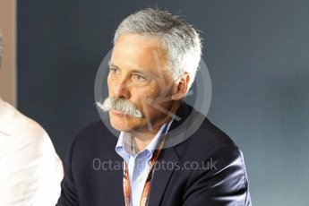 World © Octane Photographic Ltd. Formula 1 - Italian GP - Friday FIA Team Press Conference. Chase Carey - Chief Executive Officer of the Formula One Group. Autodromo Nazionale di Monza, Monza, Italy. Friday 31st August 2018.