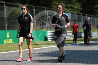 World © Octane Photographic Ltd. GP3 – Italian GP – Track Walk. Jenzer Motorsport - Tatiana Calderon. Monza, Italy. Thursday 30th August 2018.