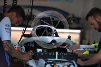World © Octane Photographic Ltd. Formula 1 – Italian GP - Track Walk. Williams Martini Racing FW41. Autodromo Nazionale di Monza, Monza, Italy. Thursday 30th August 2018.