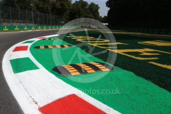 World © Octane Photographic Ltd. Formula 1 – Italian GP - Track Walk. Turn 10 with new double kerb. Autodromo Nazionale di Monza, Monza, Italy. Thursday 30th August 2018.