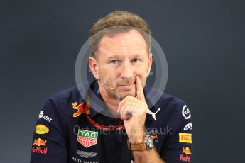 World © Octane Photographic Ltd. Formula 1 - Japanese GP – Friday FIA Team Press Conference. Christian Horner - Team Principal of Red Bull Racing. Suzuka Circuit, Japan. Friday 5th October 2018.