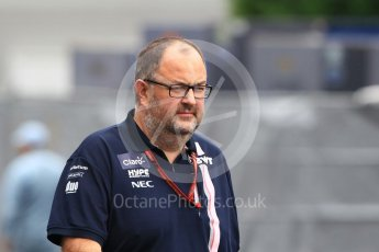 World © Octane Photographic Ltd. Formula 1 - Japanese GP - Paddock. Tom McCullough – Chief Race Engineer at Racing Point Force India. Suzuka Circuit, Japan. Saturday 6th October 2018.