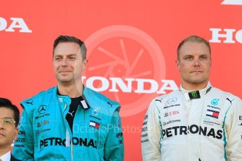 World © Octane Photographic Ltd. Formula 1 – Japanese GP – Podium. Mercedes AMG Petronas Motorsport AMG F1 W09 EQ Power+ - Valtteri Bottas. Suzuka Circuit, Japan. Sunday 7th October 2018.
