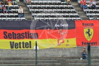 World © Octane Photographic Ltd. Formula 1 – Japanese GP - Practice 1. Scuderia Ferrari SF71-H – Sebastian Vettel fans' banners. Suzuka Circuit, Japan. Friday 5th October 2018.