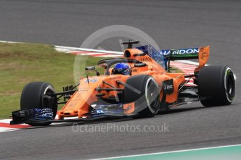 World © Octane Photographic Ltd. Formula 1 – Japanese GP - Practice 1. McLaren MCL33 – Fernando Alonso. Suzuka Circuit, Japan. Friday 5th October 2018.