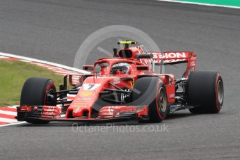 World © Octane Photographic Ltd. Formula 1 – Japanese GP - Practice 1. Scuderia Ferrari SF71-H – Kimi Raikkonen. Suzuka Circuit, Japan. Friday 5th October 2018.