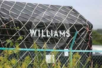 World © Octane Photographic Ltd. Formula 1 – Japanese GP - Practice 2. Williams shipping crates. Suzuka Circuit, Japan. Friday 5th October 2018.