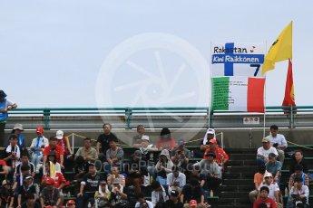 World © Octane Photographic Ltd. Formula 1 – Japanese GP - Practice 2. Kimi Raikkonen fans. Suzuka Circuit, Japan. Friday 5th October 2018.