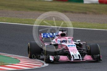 World © Octane Photographic Ltd. Formula 1 – Japanese GP - Practice 2. Racing Point Force India VJM11 - Sergio Perez. Suzuka Circuit, Japan. Friday 5th October 2018.
