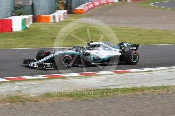 World © Octane Photographic Ltd. Formula 1 – Japanese GP - Practice 3. Mercedes AMG Petronas Motorsport AMG F1 W09 EQ Power+ - Valtteri Bottas. Suzuka Circuit, Japan. Saturday 6th October 2018.