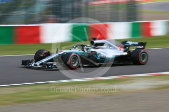 World © Octane Photographic Ltd. Formula 1 – Japanese GP – Practice 3. Mercedes AMG Petronas Motorsport AMG F1 W09 EQ Power+ - Lewis Hamilton. Suzuka Circuit, Japan. Saturday 6th October 2018.