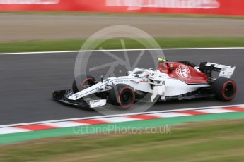 World © Octane Photographic Ltd. Formula 1 – Japanese GP - Practice 3. Alfa Romeo Sauber F1 Team C37 – Charles Leclerc. Suzuka Circuit, Japan. Saturday 6th October 2018.