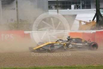 World © Octane Photographic Ltd. Formula 1 – Japanese GP - Practice 3. Renault Sport F1 Team RS18 – Nico Hulkenberg spins off at exit of turn 4. Suzuka Circuit, Japan. Saturday 6th October 2018.
