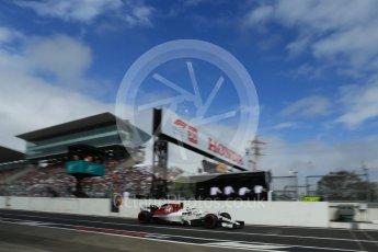 World © Octane Photographic Ltd. Formula 1 – Japanese GP - Practice 3. Alfa Romeo Sauber F1 Team C37 – Charles Leclerc. Suzuka Circuit, Japan. Saturday 6th October 2018.